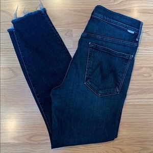 Mother Stunner Ankle Fray Jeans size 30